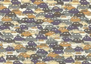 LIBERTYリバティプリント・タナローン生地<Cars>カーズ(グレー)36391...