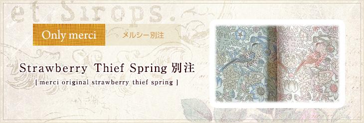 メルシー別注 Strawberry Thief Spring
