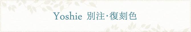 Yoshie別注・復刻色
