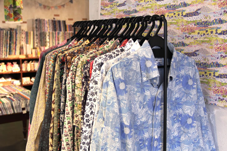 男のリバティシャツコレクション
