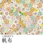LIBERTYリバティプリント・11号帆布国産生地<br><Patchwork Stories>(パッチワーク・ストーリーズ)3638151-18CC