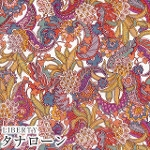 LIBERTYリバティプリント・国産タナローン生地【2021SS】<br><Pineapple Paisley>(パイナップルペイズリー)3631110-21A