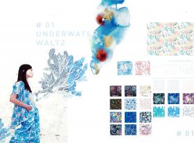 #01 UNDERWATER WALTZ  – リバティプリント2017年春夏柄デザインストーリー