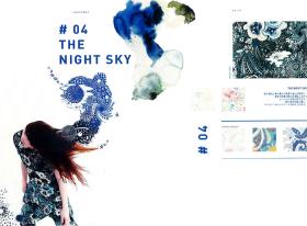 #04 THE NIGHT SKY  – リバティプリント2017年春夏柄デザインストーリー