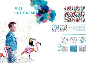 #05 SEA SAFARI  – リバティプリント2017年春夏柄デザインストーリー