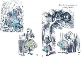 #02 リバティプリントの不思議の国のアリス ーリバティプリント2015年春夏柄デザインストーリー